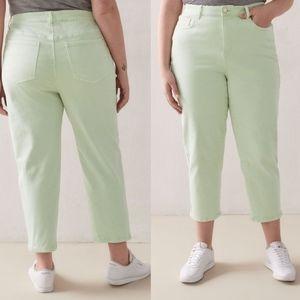 Mid Rise Cropped Slim Leg Jeans